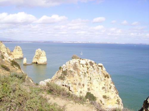 portugal rock algarve holiday