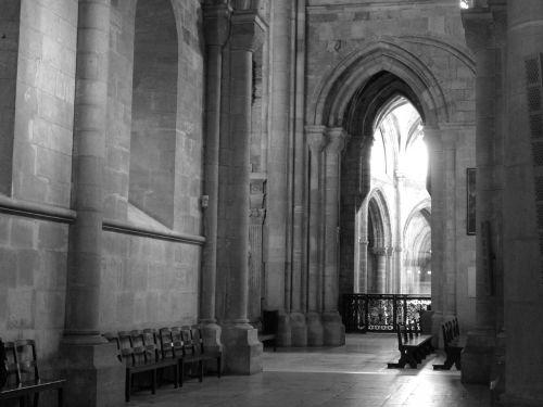 portugal church black and white