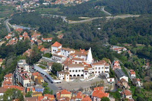 portugal,sintra,panoraminis,vaizdas,turizmas,istoriniai pastatai,istorija