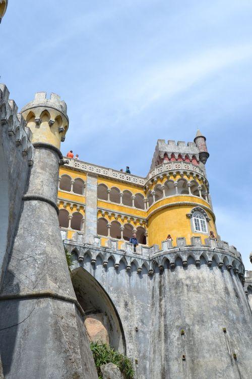 portugal,sintra,pilis,vaizdas,į,paminklas,akmuo,turizmas,statyba,istoriniai pastatai,istorija,senas,senas pastatas,istorinis,nostalgija