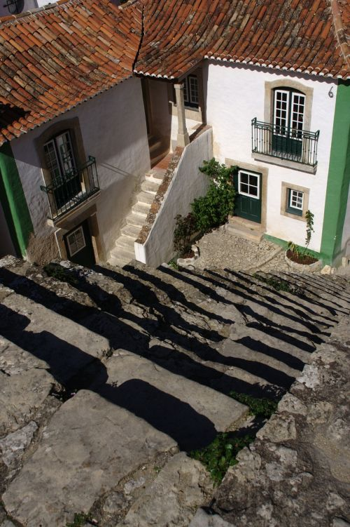 portugal óbidos stairs