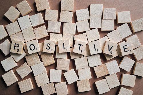 positive letters scrabble text