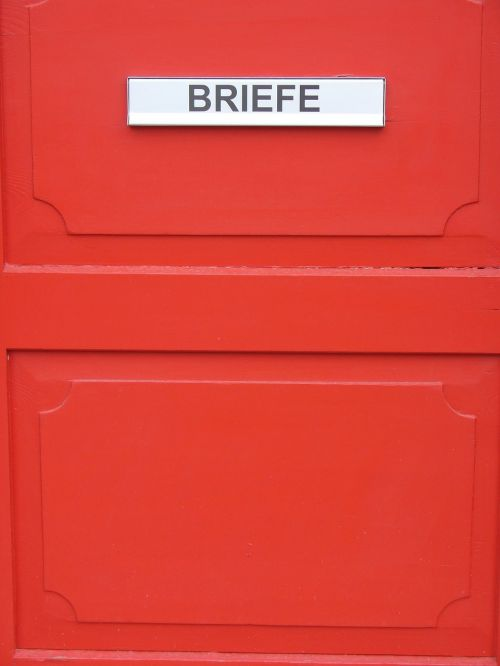 post mailbox red