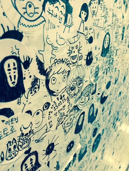 post sticker ghost