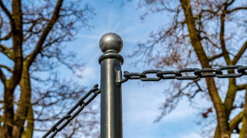post steel chain