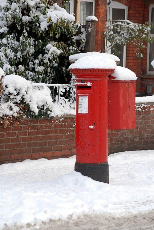 post box winter snow