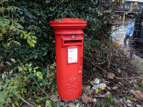 post box red english
