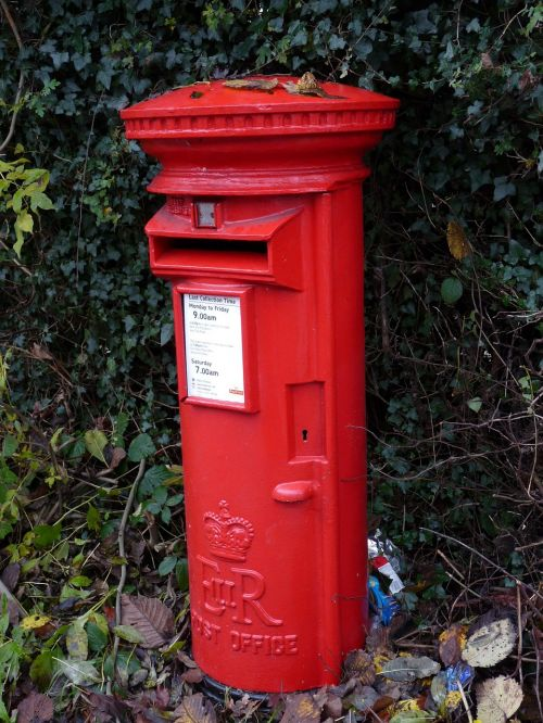 post box red english red