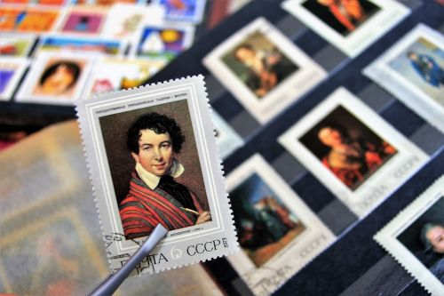postage stamps collection male