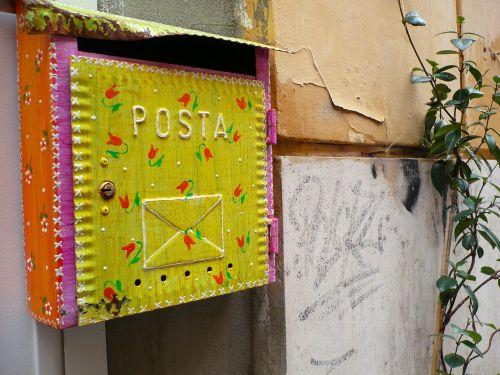 postal mailbox letter