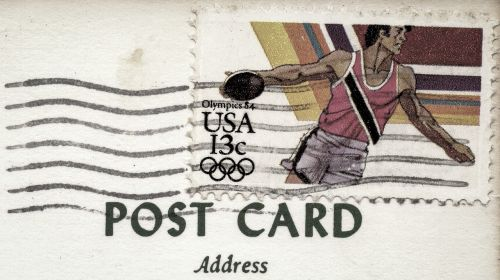 postcard stamp postmark