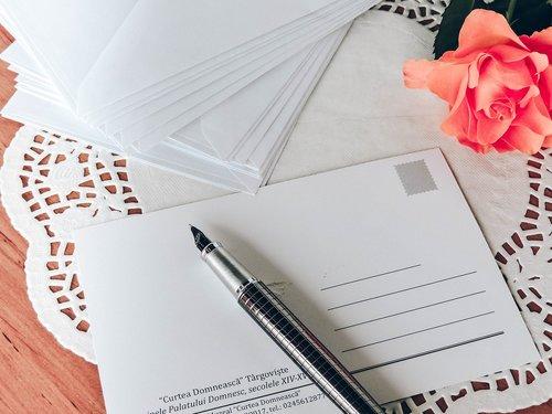 postcard  pen  write
