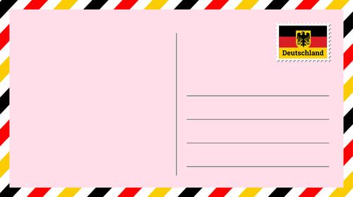 postcard  letter  mark