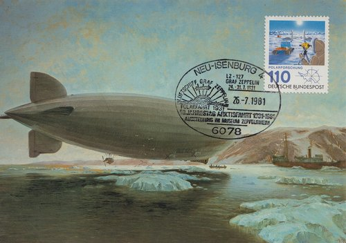 postcard  airship  zeppelin