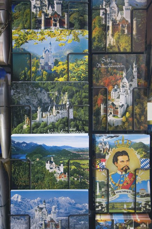 postcards souvenir castle