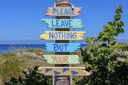 poster beach sign