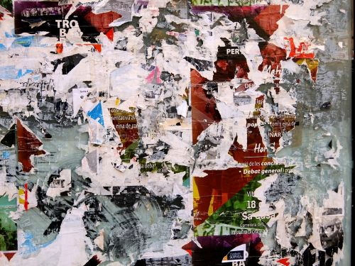 poster torn paper