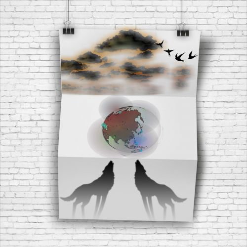 poster clouds planet