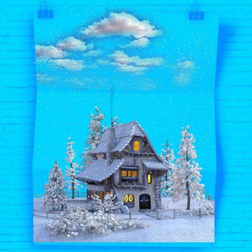 poster snowy winter