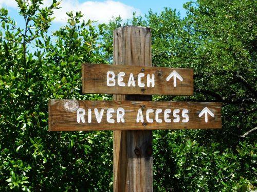 poster beach river