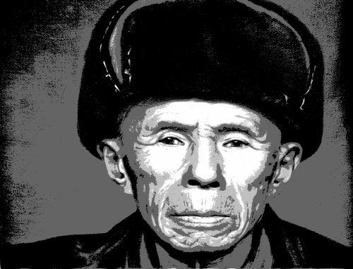 žmonės, vyras, etninis, kinai, han, skaitmeninis, posterizavimas, portretas, senyvo amžiaus, senas & nbsp, žmogus, posterizacijos žmogus