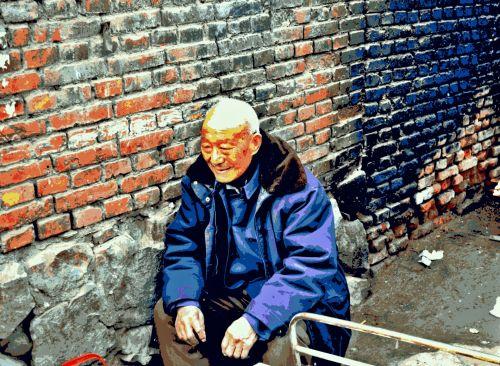 Posterization Senior Citizen