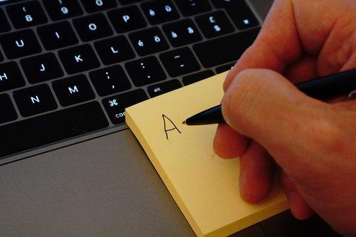 postit  hand  write