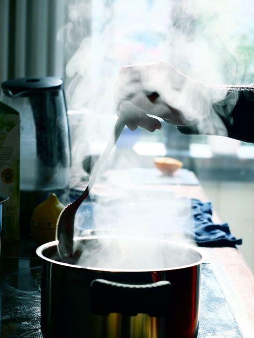 pot kitchen steam