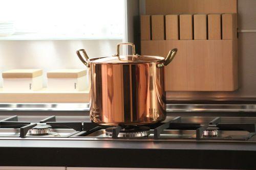 pot copper cook