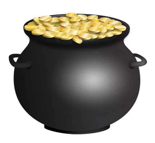 pot of gold st patrick's day cauldron