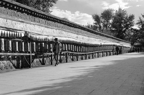 potala square passers prayer wheel