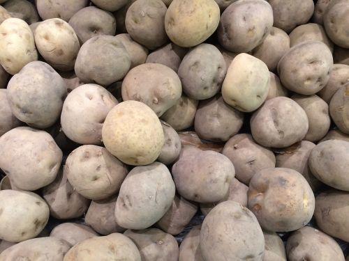 potato black and white vegetables