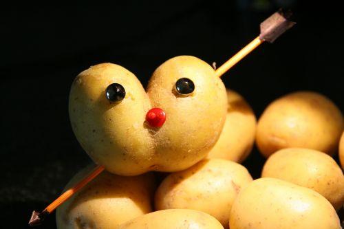 potato heart-shaped potato love