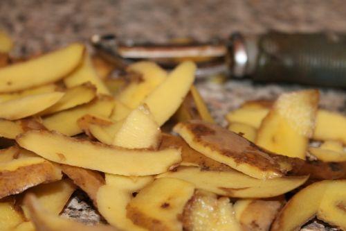 potato dish organic waste shell