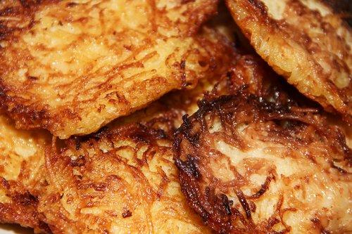 potato fritter  potato patties  kartoffelpuffer