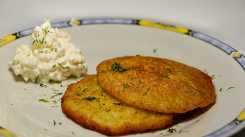 potato pancakes latkes fried