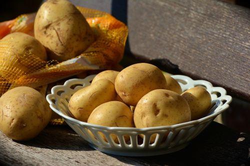 potatoes unpeeled food