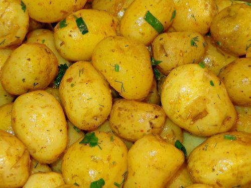 potatoes vegetables eating