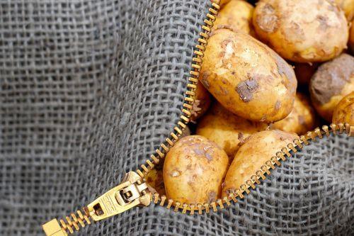 potatoes linen bag bag