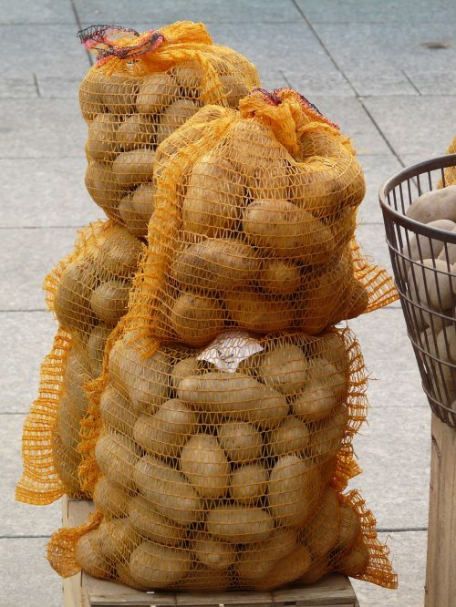 potatoes potato sack vegetables