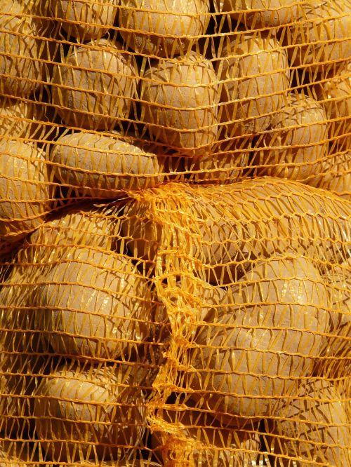 potatoes potato sack bag