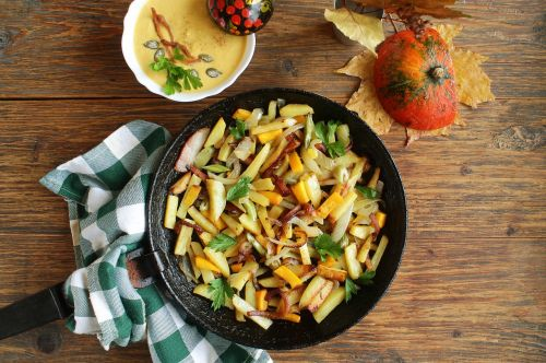 potatoes with vegetables fried potatoes potatoes with pumpkin