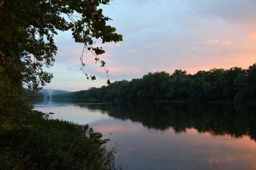 potomac river sunset landscape