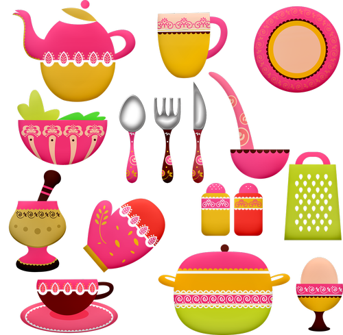 pots and pans  kitchen utensils  cooking