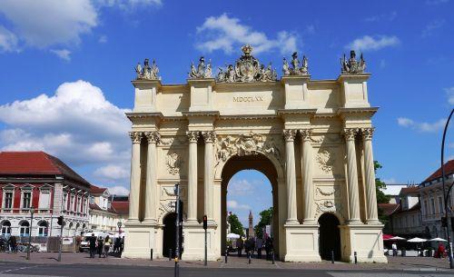 potsdam brandenburg gate historically