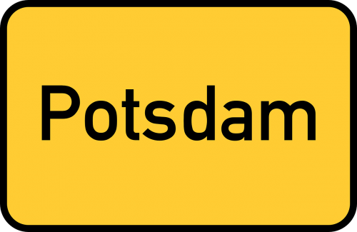 potsdam brandenburg town sign