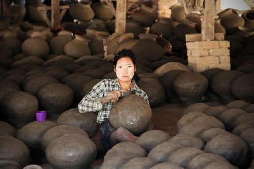 pottery potters woman