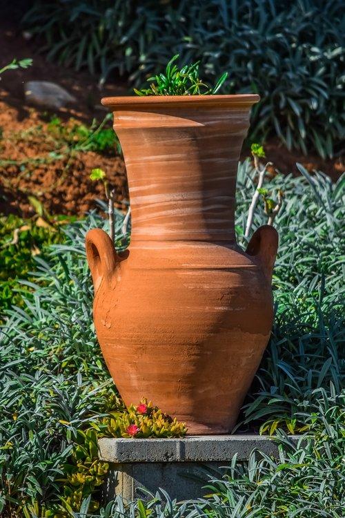 pottery  garden  pot