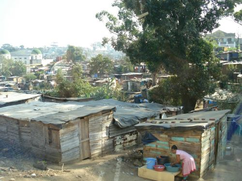 poverty slum shanty town