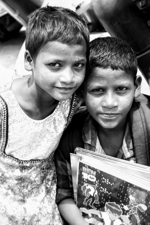 poverty monochrome india